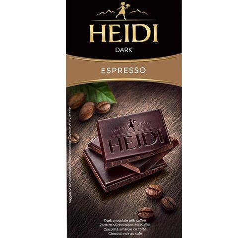 赫蒂濃縮咖啡黑巧克力80g