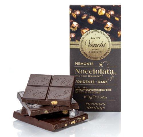 威琪全榛果黑巧克力片100g